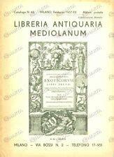 libreria antiquaria mediolanum 1937 libreria antiquaria mediolanum catalogo 483