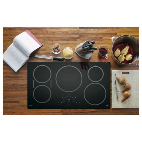 best ceramic cooktop php9036djbb ge profile 36 quot induction ceramic cooktop black