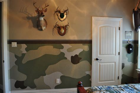 camo bedroom walls painting and design by celeste the camo room