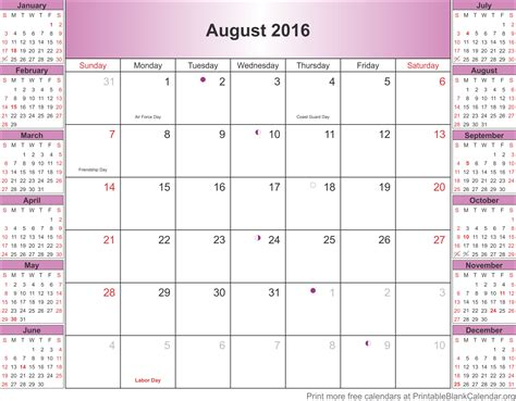 printable calendar 2016 with philippine holidays image gallery holidays august 2016