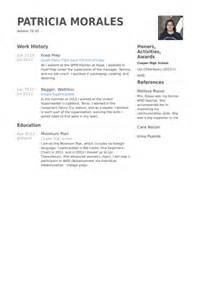 Food Preparer Resume by Food Prep Resume Sle Sle Resume