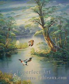 bob ross painting birds cls038 sundown geese wilson bickford by artist marion
