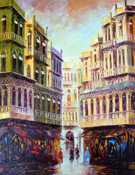 building painting art world old building paintings gallery