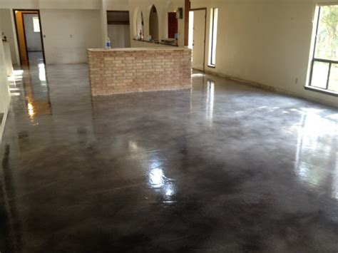 gray brown stained concrete floors grey concrete stain