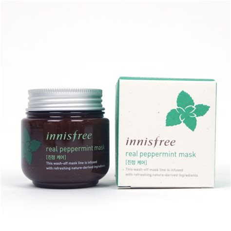 Innisfree Real Peppermint Mask 10gr innisfree real mask peppermint review