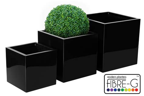 Cube Planter by Fibreglass Cube Planter Gel Coat Black Small 40cm 163 69 99