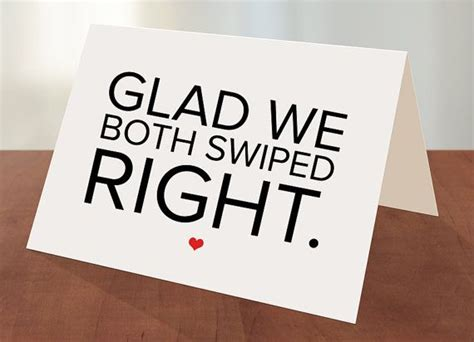 Tinder Gift Card - swiped right tinder love greeting card with envelope a6 4 5 8 x 6 1 4 greeting