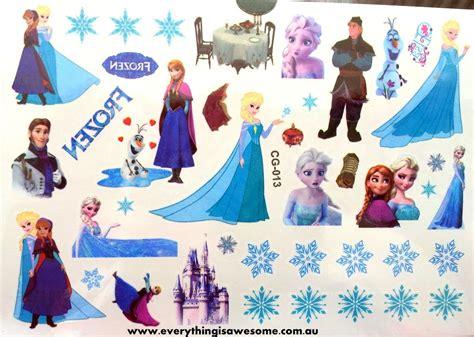 Disney Frozen Temporary Tattoos For New everything is awesome disney frozen temporary cg 013