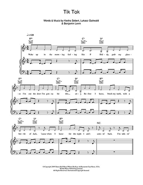 kesha tik tok piano tutorial tik tok partition par ke ha piano chant et guitare