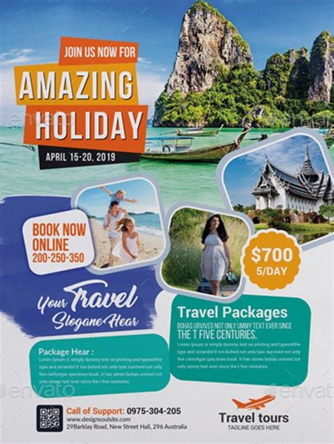 ffflyer travel agency business flyer template download