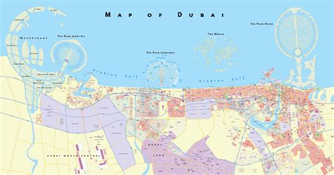 dubai in map maps of dubai detailed map of dubai city in
