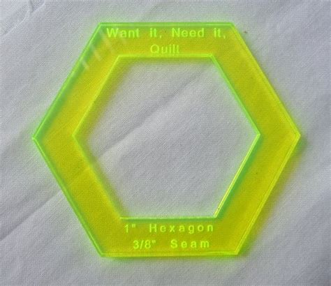 fussy cut templates 1 quot hexagon templates want it need it quilt store