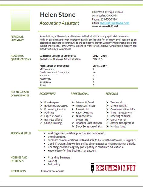 resume format accountant assistant in word accounting assistant resume template 2017
