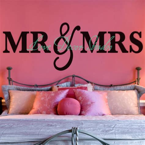 aliexpress buy mr mrs wall sign for bedroom decor