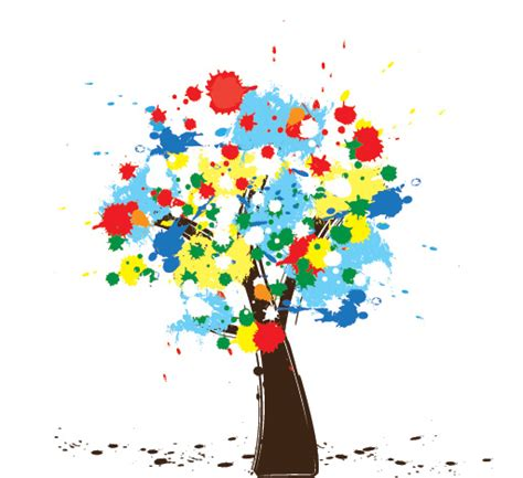 colorful tree colorful tree 1 free images at clker com vector clip