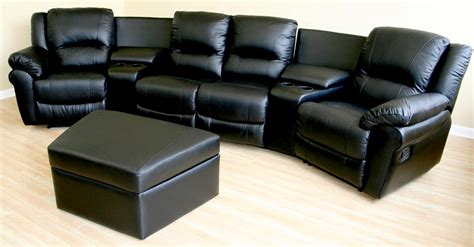 Home Theater Sofa Recliner Home Theater Seating Black Leather Recliner Sectional Sofa