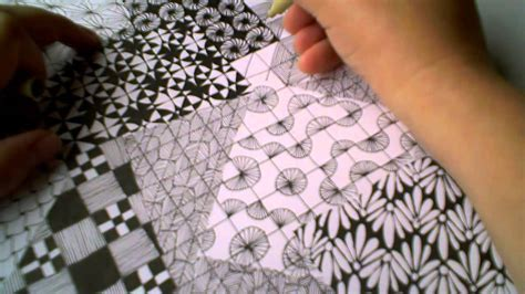 pattern making for beginners youtube zentangle pattern slers 1 for beginners part 4