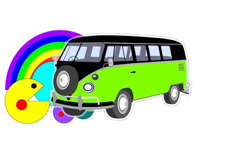 volkswagen hippie van clipart free hippie van clipart 32