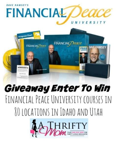 Dave Ramsey Giveaway - dave ramsey s financial peace university enter to win a family pass to the 9 week
