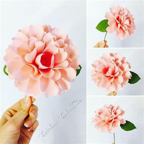 paper dahlia flower tutorial paper dahlias paper flower dahlia tutorial how to stem a
