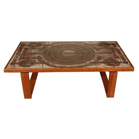 Tile Coffee Tables Tile Top Coffee Table At 1stdibs