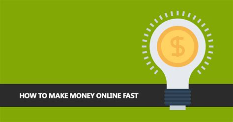 Create Make Money Online Fast - how to make money online fast