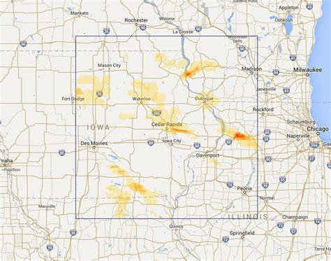map of cedar rapids iowa interactive hail maps available regions