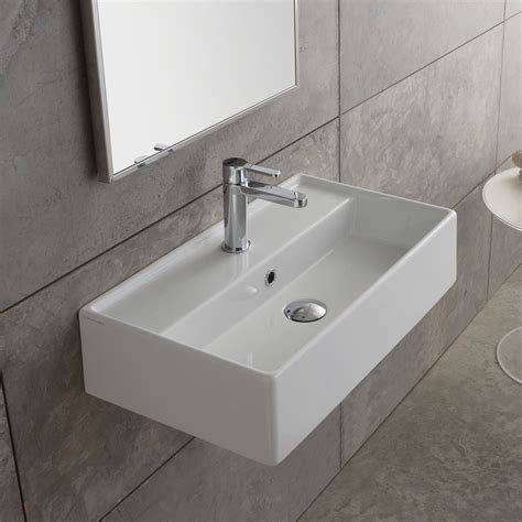 Wall Mounted Countertop by Scarabeo Teorema Countertop Wall Mounted Washbasin W 41