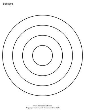 bullseye printable for the templates templates