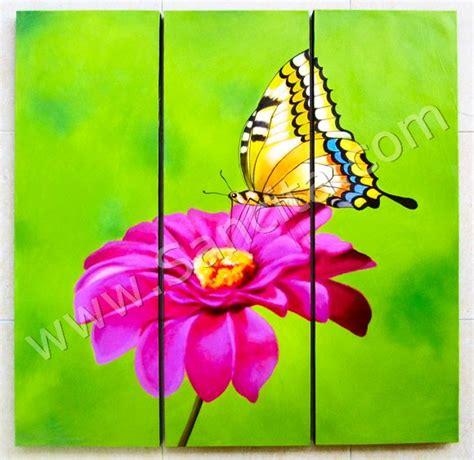 Lukisan Panel Minimalis Kupu Kupu p3 33 lukisan minimalis set kupu kupu sancita