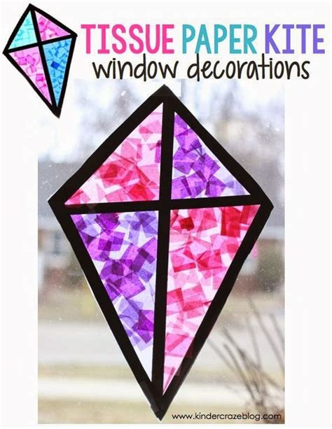 tissue paper stained glass craft kite quot stained glass quot window craft made with tissue paper