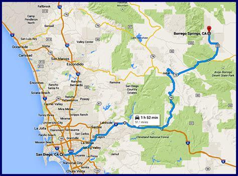 springs california map a visit to galleta in borrego springs