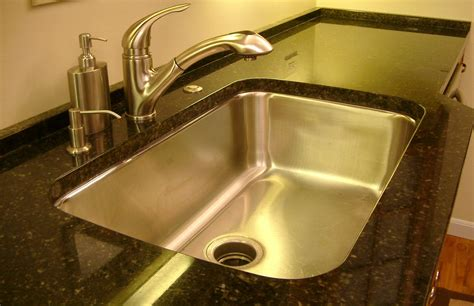 granite countertops with undermount sinks undermount stainless steel sinks for granite