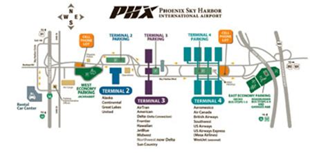 phx airport map sky harbor terminal 4 map laminatoff