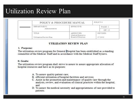 Utilization Review Cover Letter by Utilization Review Personal Statement