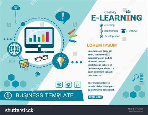 tutorial online learning online elearning design concepts words learning stock