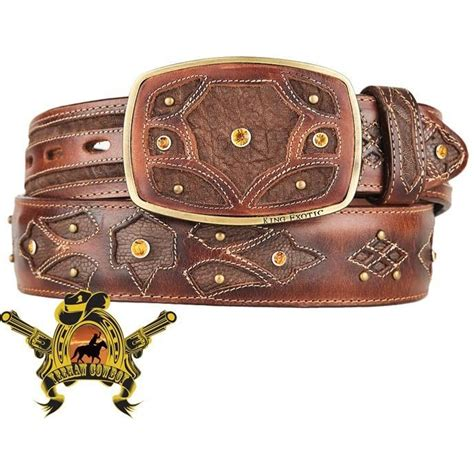 Handcrafted Belts - genuine elephant cowboy belts western fashion king