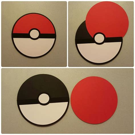 pokeball template set of 8 pokeball themed invitations invitation