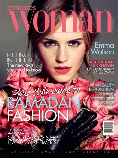 women magazine emma watson emirates woman magazine july 2013 02