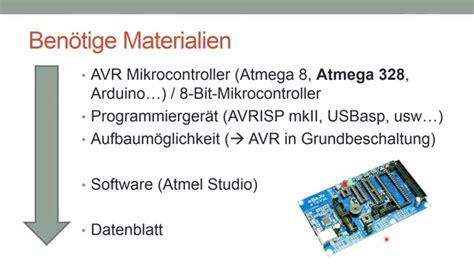 tutorial c deutsch einleitung mikrocontroller programmieren in c avr c