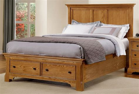 Forsyth Medium Oak Panel Storage Bedroom Set From Vaughan Medium Oak Bedroom Furniture