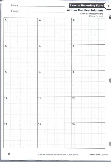 printable graph paper for math homework saxon math grid pg1 hudson pinterest math