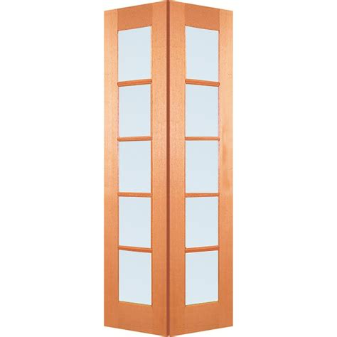 Bi Fold Doors With Frosted Glass Woodcraft Doors 2040 X 820 X 35mm 5 Lite Frosted Safety Glass Maple Interior Bi Fold Door