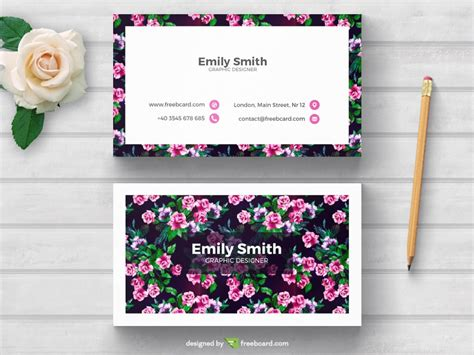 floral business cards templates free floral business card template freebcard