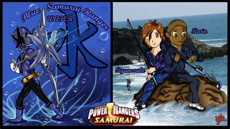 painting of power rangers samurai blue samurai ranger by dk darkkitty on deviantart