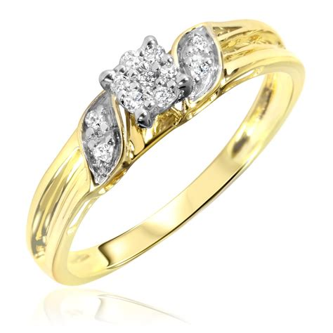 carat tw diamond womens engagement ring  yellow gold