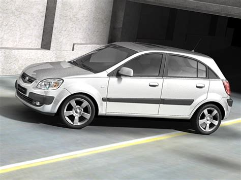 Kia 2006 Hatchback Kia 2006 Hatchback 3d Model Max 3ds Cgtrader