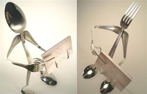 figure holder silverware figure business card holder gadgetsin