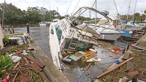 hurricane boats orlando hurricane irma damages brevard county buildings trees