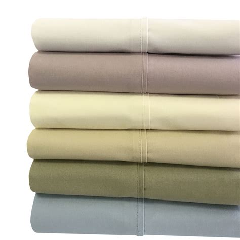 Size Bed Sheets by Size Bed Sheet Set 100 Cotton Pocket Percale